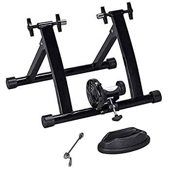 Yaheetech Magnetic Bike Trainer Stand Premium Steel Bike Bicycle Indoor Exercise Bike Stationary Workout Trainer Stand Fits for 26in-28in 700C Wheels
