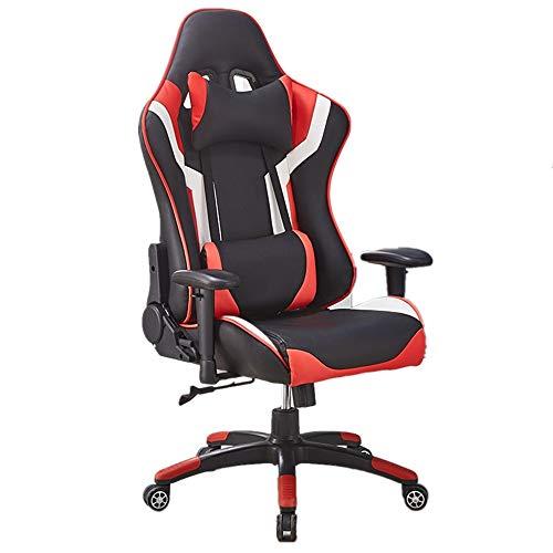 Verstelbare taille armleuning stoel computer stoel Ergonomische conferentie Executive Manager werkstoel PU leer hoge rug verstelbare werkstoel Game stoel bureaustoel