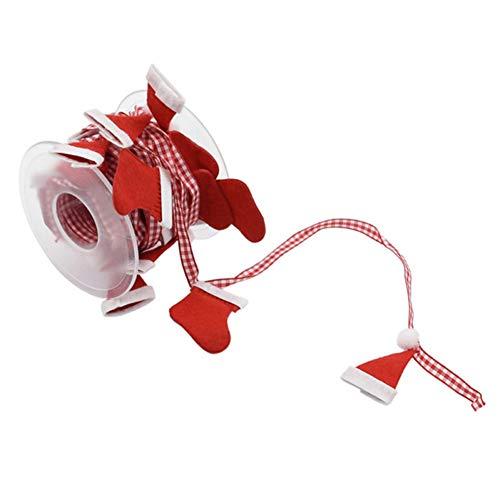 Cinta de navidad 5.4Yd Craft Ribbon Cintas rojas para accesorios para el cabello Artesanía y envoltura de regalos Decoración del árbol de Navidad DIY Decoración de la boda Caja de regalo