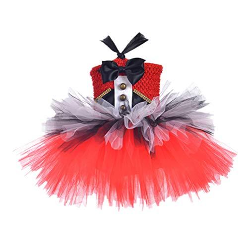 Amosfun Mädchen Tutu Rock Kleid Outfits Set einteiliges Kleid schöne süße helle Farbe für Babys (Größe XL)
