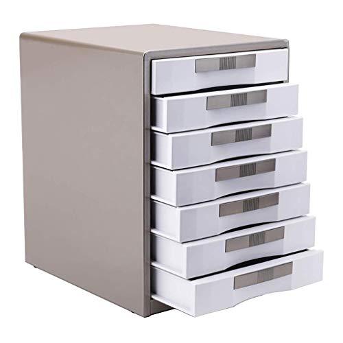 Aktenschrank Datei Confidentialitydesktop Kabinett Speicher mit großer Kapazität Box Management Bild anzeigen Metall Enhance (30X35X30.8CM, 30X35X41CM) 12-30 ( Color : Brown , Size : 300*350*410mm )