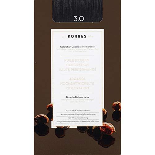 Korres - Coloration Huile D'Argan Dark Brown N°3.0 - La Boite De 145Ml - Vendu par pièce - Livraison Gratuit en France