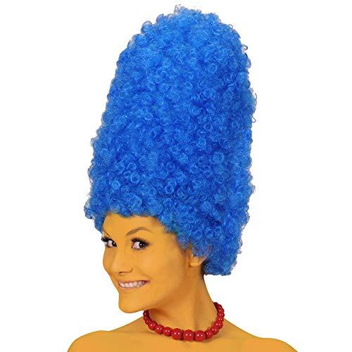Widmann 5998M – Perücke Cartoon, blau, Turmfrisur, Frisur, Haare, Zweitfrisur, Accessoire, Zubehör, Motto Party, Karneval
