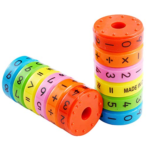 Daxoon Mathematik Rechenrolle Spielzeug 1pcs Magnetisches Mathe Lernen Rechnen Spielzeug DIY Puzzles für Kinder Vorschule Pädagogisches Plastikspielzeug