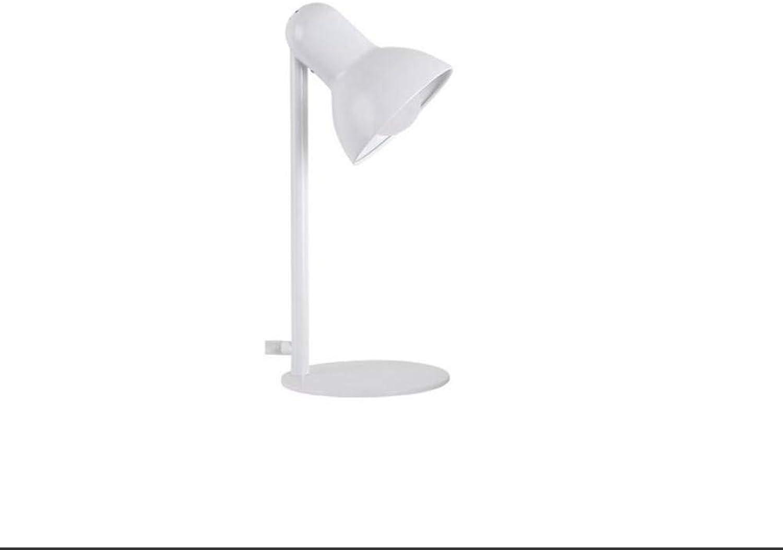 Led Lighttable Lampe Schlafzimmer Wohnzimmer Nacht Büro Büro Schmiedeeisen Lampe, Augenschutz Led Licht (Schwarz, Gold, Wei) (Farbe  Wei)