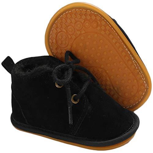 pureborn Baby Boy Girl Unisex Fleece Cozy Booties Bedroom Boots Winter Warm Ivory 3-6 Months