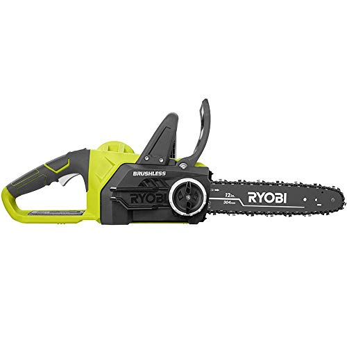 RYOBI P548BTL ONE+ 12 in. 18-Volt Brushless Lithium-Ion Electric Cordless Battery Chainsaw (Tool-Only)