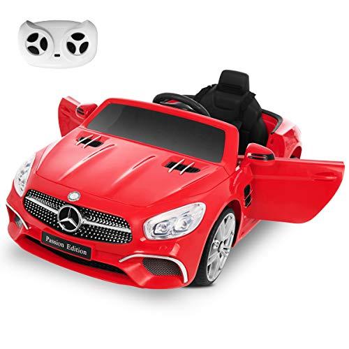 Playkin MERCEDES-BENZ SL400 ROJO - Coche bateria 12V niños 3-8 años mando control remoto juguetes infantiles coches de bateria , color/modelo surtido