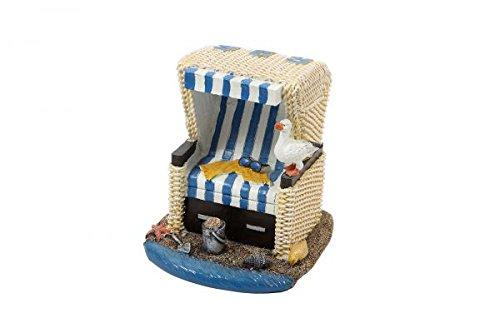 City Souvenir Shop Miniatur-Strandkorb, klein, ca. 6 x 3 x 4 cm