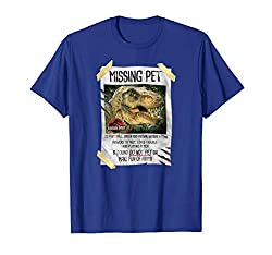 6. Jurassic Park Missing Pet T-Rex Poster Taped Graphic T-Shirt