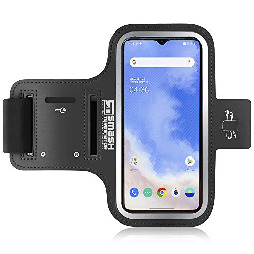 Smash Terminator OnePlus 6T Armband - Sports Phone Holder Case for Runners, Exercise & Gym Workouts - Also Compatible with OnePlus 6 / 5T / 5 / 3T / 3 (Suitable For All Arm Sizes)