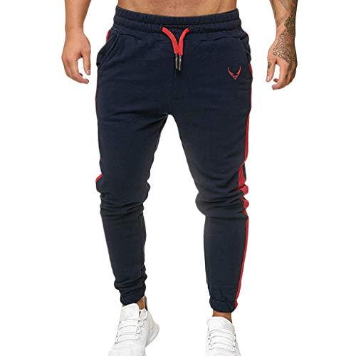Subfamily Pantalón Deportivo Casual para Hombre, Moda Casual Deportes Al Aire Libre Correr Cordón Imprimir Pantalones Largos