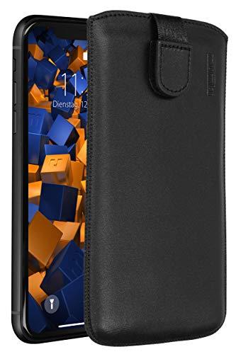 mumbi Echt Ledertasche kompatibel mit iPhone XR Hülle Leder Tasche Hülle Wallet, schwarz