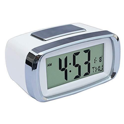 yywl Alarm Klok Creatieve Smart Nachtlampje Alarm Klok Nachtkastje Tafel Elektronische Klok Mute Lichtgevende Alarm Klok