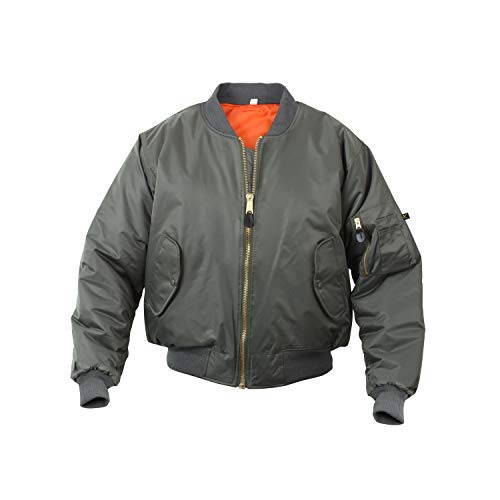 Rothco MA-1 Flight Jacket, XS, Sage Green