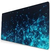 マウスパッド 大型 ゲーミング キーボードパッド 幾何 ディジタル 紺色 ハレーション 個性 ゴム底 光学マウス ゲーム 特大 40cm×75cm 滑り止め エレコム 耐久性が良い おしゃれ かわいい 防水 サイバーカフェ オフィス最適 適度な表面摩擦