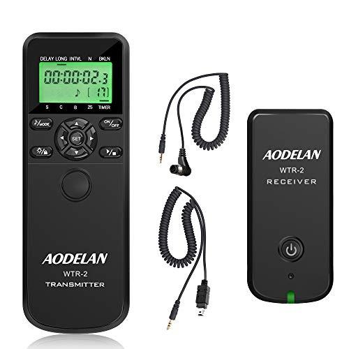 AODELAN WTR2 Kabelloser Fernauslöser Timer für Nikon D5300, D850, D810, D700, D500, D4, D5, D4s, D3100, D5000, D7200, D600, D610, D750, D3200, D3300 Replace MC-DC2, MC-36