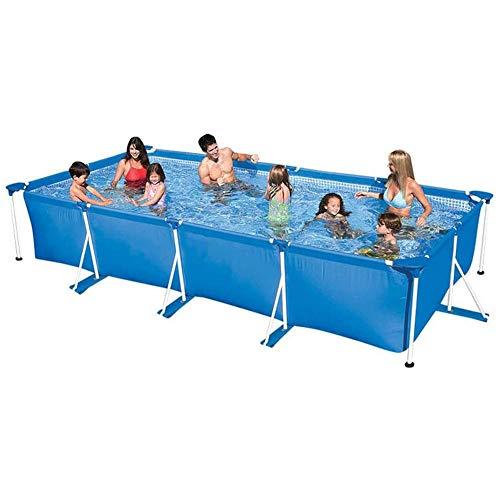 N/O Schwimmpool für Gärten - Planschbecken für Kinder Große, rechteckige Halterung Abnehmbare Halterung Pool Home Heightening Adult Mobile