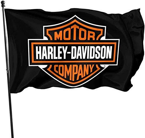 Just Life Gartenflagge , Harley Davidson Gartenflagge 3X 5 Zoll Outdoor Yard Decor.