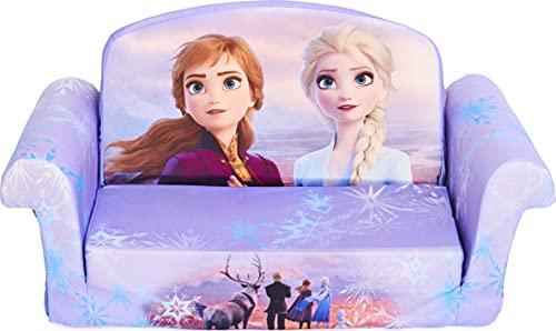 Marshmallow Furniture Frozen 2 Kids' 2-in-1 Flip Open Foam Sofa