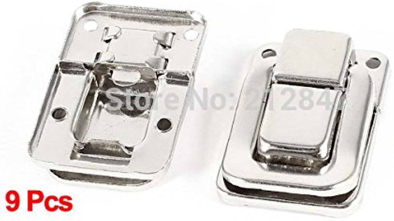 9pcs Drawer Closet Toolbox Hardware Silver Tone Toggle Latch Catch Hasp