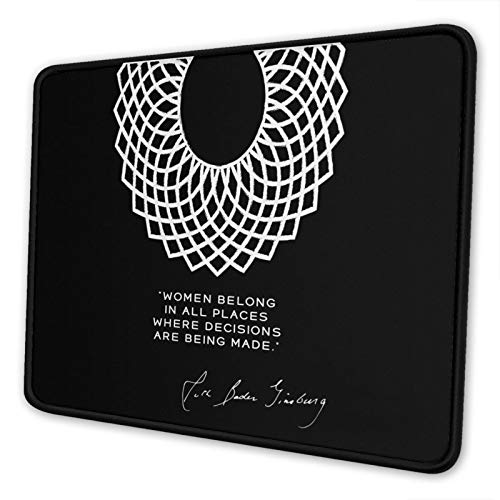 Dissent Collar RBG Poster Mouse Pad Gaming Mouse Pad Non-Slip Neoprene Base with Stitched Edge Computer Pc Mousepad for Home Office