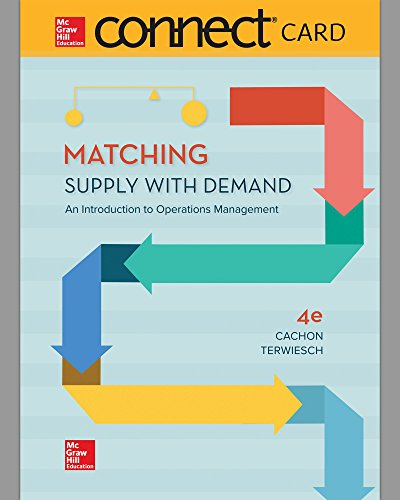 Connect Access Card for Matching Supply with Demand: An Introduction to Operations Management