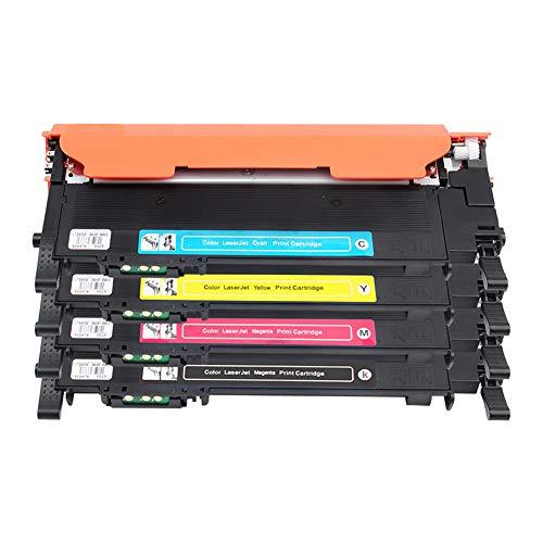 HDJX Voor Samsung CLT-K406S Toner Cartridge SL-C410W Printer C460FW Toner Cartridge 3306FN 3300 inktcartridge, gemakkelijk toe te voegen poeder, gedrukte pagina's, zwart 1500 pagina's/kleur 1200 pagina's