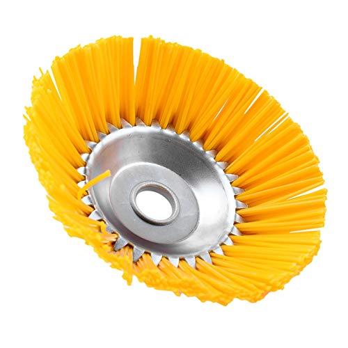 Rfvtgb Cepillo de nailon universal para desbrozadora de jardín, duradero, con cuchillo,...