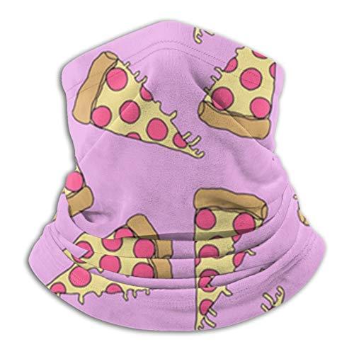 Mikrofaser-Halswärmer mit Pizza-Muster, Schal, Ohrwärmer, Stirnband, Sturmhaube, Kopfbedeckung, Kopfbedeckung für Outdoor, Sport