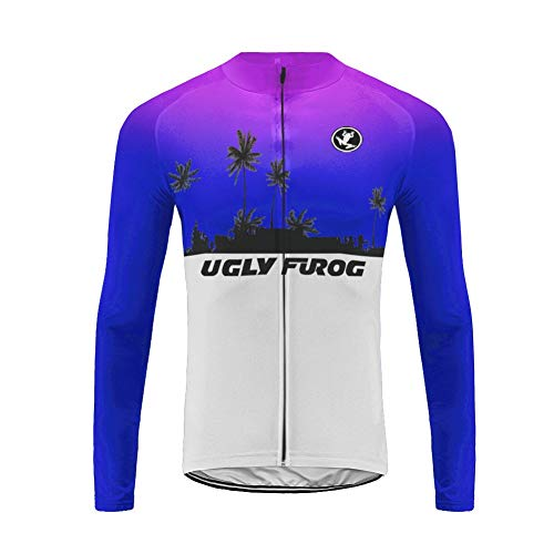 UGLY FROG MA06 Neue Winter MTB Jersey/Winterjacke Thermisches Fahrradtrikot Vlies Thermo Langarm Shirt Herren Breathable Radfahren Fahrrad Lange Hülsen Fahrrad Hemd