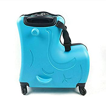 DNYSYSJ Kid Ride on Roll Suitcase Travel Luggage Storage Bag Universal Wheel Trolley Fashionable Appearance Rideable Funny Add Fun to The Journey Gift 20in Recommended Age 1-8 Years Old
