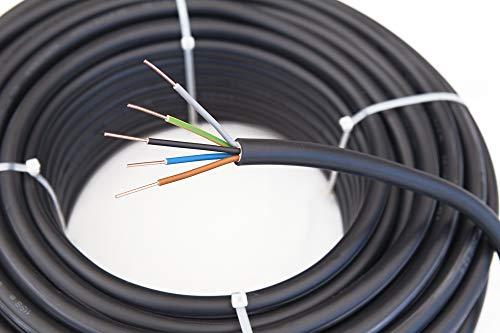 Starkstromkabel NYY-J 5x1,5mm² Kabel | 25m Ring, 5 adriges Erdkabel nach DIN VDE 0276-603