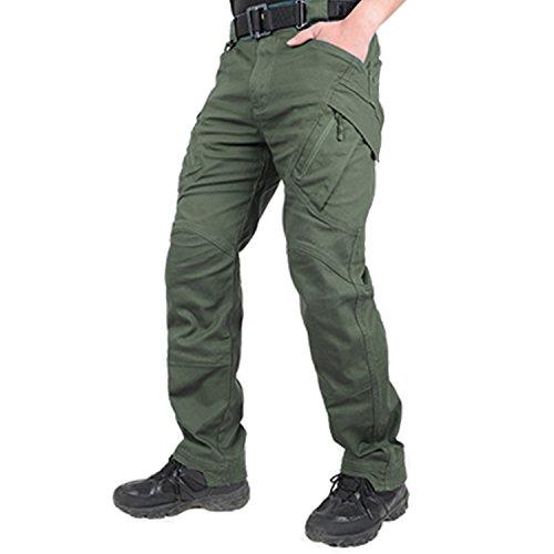 BELLOO Herren Arbeitshose Baumwolle Trousers Mit Reißverschlusstaschen,Graugrün,L