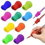 鉛筆もちかた NATUCE 鉛筆グリップ ペングリップ 握り方矯正 えんぴつ用 もちかたサポーター 握りやすい 子供用 10個入り