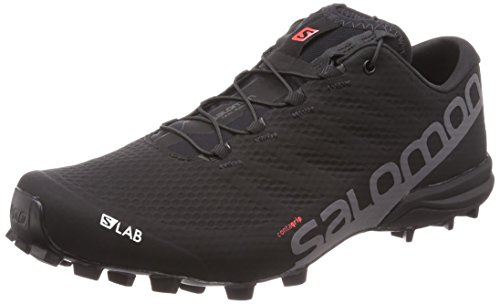 SALOMON Unisex-Erwachsene S/lab Speed 2 Traillaufschuhe, Schwarz (Black/Racing Red/White 000), 39 1/3 EU