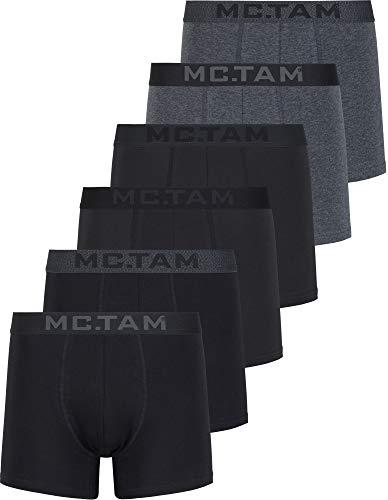 MC.TAM® Herren Boxershorts 95% Baumwolle(Oeko Tex® Standard 100) 6er Pack Ergonomische Passform Unterhosen Männer Unterwäsche Set, 4XL, 6er Pack P1