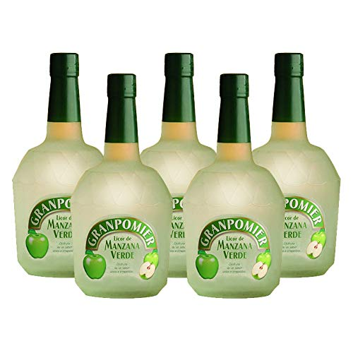 Licor de manzana Granpomier de 70 cl - Bodegas Gonzalez Byass (Pack de 5 botellas)