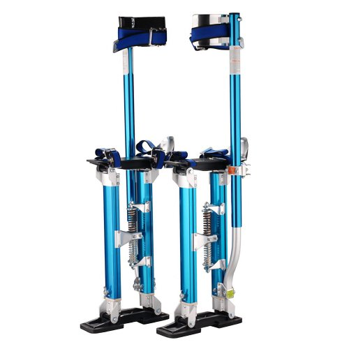 1117 Pentagon Tool 'Tall Guyz' Professional 18'-30' Blue Drywall Stilts For Sheetrock Painting or Cleaning