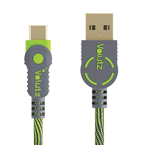 Volutz USB C Kabel 3M, USB Typ-C Ladekabel für Geräte wie Samsung Galaxy S10, S9, S9+, S8, S8 Plus A3/A5/A7 2017, Nintendo Switch, LG G5/G6, HTC 10 usw - Grün [ArmorCord]