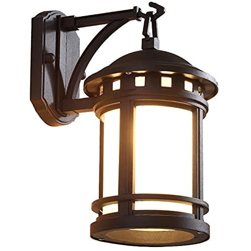 Lámpara De Pared, IP23 Al Aire Libre A Prueba De Herrumbre Apliques De Aluminio Decoración De Interiores Y Exteriores Lámpara De Pared, Para Villa Patio Jardín, 110-220V