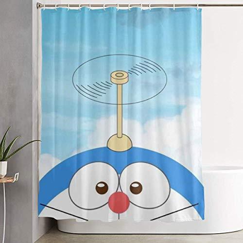 Cortina de baño Bamboo Dragonfly Doraemon Art Print, Colección de Decoraciones de baño de Tela de poliéster con Ganchos 60X72 Pulgadas