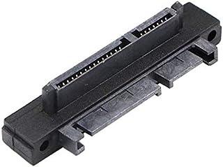 كابلات ووصلات الكمبيوتر - أسود متين بزاوية 90 درجة بزاوية 22 (7+15) دبوس ذكر إلى أنثى محول الكمبيوتر التمديد (اتجاه المقاب...