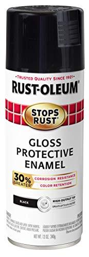 Rust-Oleum 3389276-PK Stops Rust Advanced Spray Paint, 6 Pack, Gloss Black, 72 Ounce