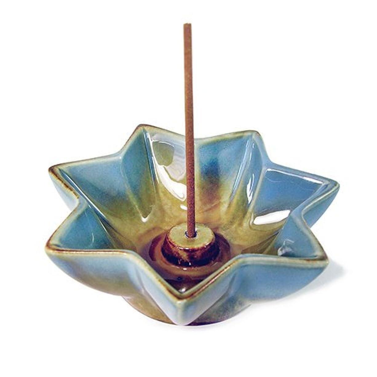 機関パイペストリーShoyeido 's LotusセラミックIncense Holder
