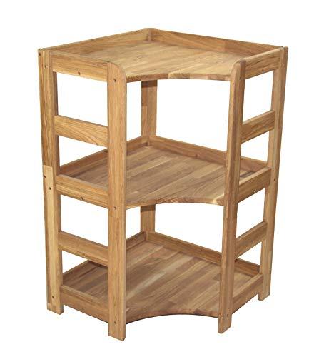 Echtholzprofi Praktisches Regal Beethoven, 90x56x56cm, Echtholz Eiche geölt, für Wohnzimmer, Büro oder Kinderzimmer