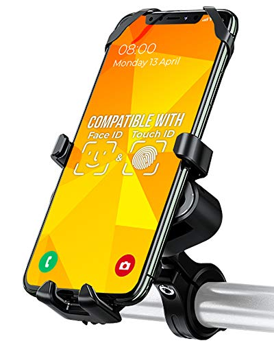 Orcas Universal Bike Phone Mount, Bike Phone holder, 360º for 3,5 to 7 inch phones, Aluminium Alloy Rotatable Adjustable Detachable for iPhone Samsung Huawei Xiaomi Pixel big size phones