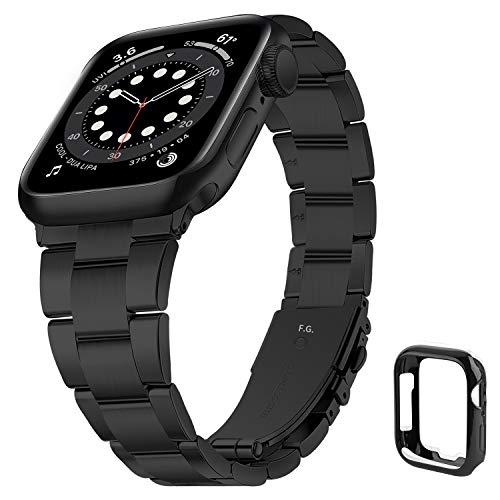 Correa Compatible para Apple Watch 44mm con Carcasa de TPU, Correa de iWatch de Acero Inoxidable 42mm No se Requieren Herramientas, Correa de Repuesto para iWatch 6/SE/ 5/4/3/2/1, Correa 42 mm