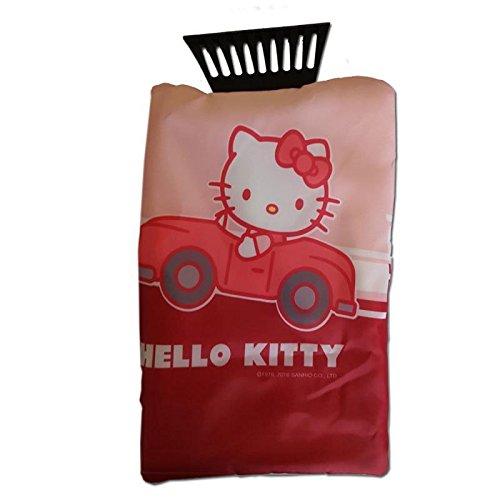 Auto Eiskratzer Eisschaber Hello Kitty Rosa Pink mit Handschuh mit Flies Neu