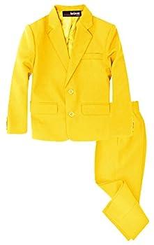 G218 Boys 2 Piece Suit Set Toddler to Teen  8 Yellow